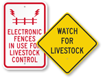 Electric Fence and Livestock Warning