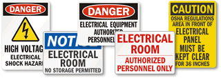 Electrical Equipment Warning