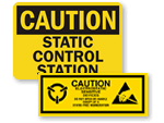 ESD Warning Signs & Labels