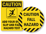 Fall Hazard Signs