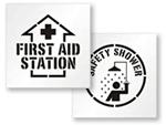 First Aid Stencils