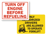 Forklift Instruction Labels