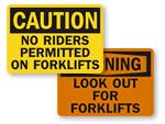 Forklift Warning Signs