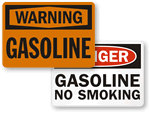 Gasoline No Smoking Signs