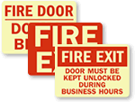 GlowSmart™ Fire Extinguisher Signs