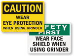 Grinder Safety Signs