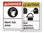Hard Hat Signs (ANSI)