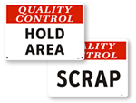 Hold Area Signs
