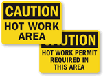 Hot Work Area Signs