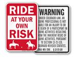 Livestock & Equine Liability Signs