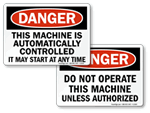 Machine Danger Signs