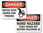 OSHA Machine Hazard Signs