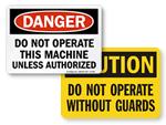 OSHA Machine Safety Signs