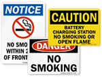 OSHA No Smoking Signs & Labels
