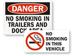 No Smoking in Vehicles Signs