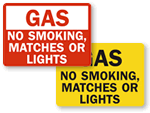No Smoking Near Gas Signs