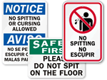 No Spitting Signs