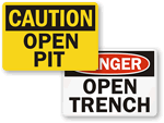 Trench Warning Signs