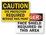 OSHA Eye Protection Signs