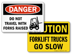 OSHA Forklift Signs