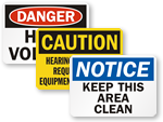 OSHA Signs | OSHA Safety Signs