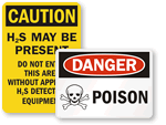 Poison Warning Signs
