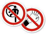 ISO Prohibited Action Signs