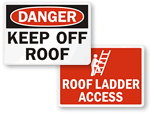 Roof Safety Signs