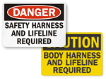 Safety Harness Signs