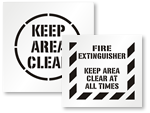 Keep Area Clear Stencils