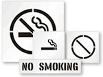 No Smoking Stencils