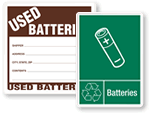 Waste Battery Signs & Labels