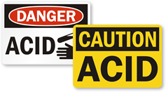 Acid & Caustic Warning Signs