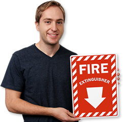 Fire Extinguisher Signs Available in a Variety of Sizes and Materials Help Locate Fire Extinguishers Easily.