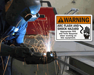 Arc Flash and Welding Arc Signs