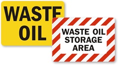 Used & Waste Oil Signs