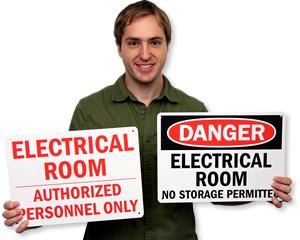 Electrical Room Warnings