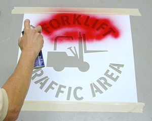 Floor Safety Stencils