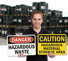 Hazardous Waste Storage Signs