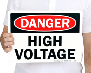 High Voltage Signs | Danger High Voltage Signs