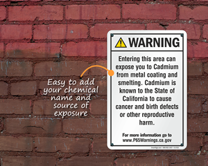 New California Prop 65 Signs