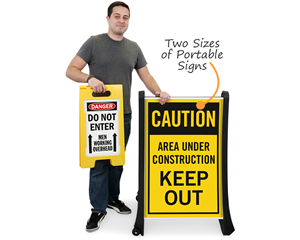 Portable construction signs