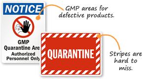 Quarantine Safety Signs