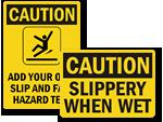 Fall Hazard Signs