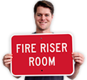 Fire Riser Sign – Tough
