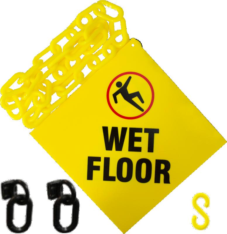 Slippery when wet signs wet floor signs for Floor banner