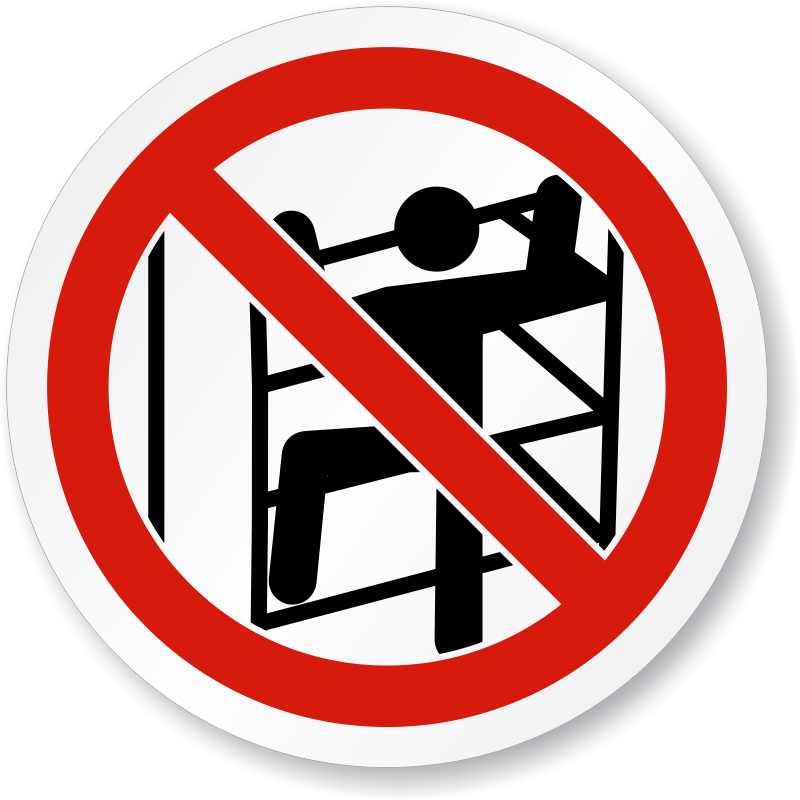 no climbing symbol do not climb shelving sign  sku is fire hat clip art 4 Fireman Hat