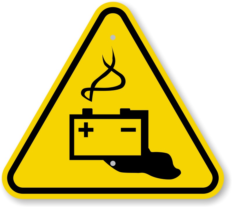 iso battery hazard warning sign symbol fast amp free