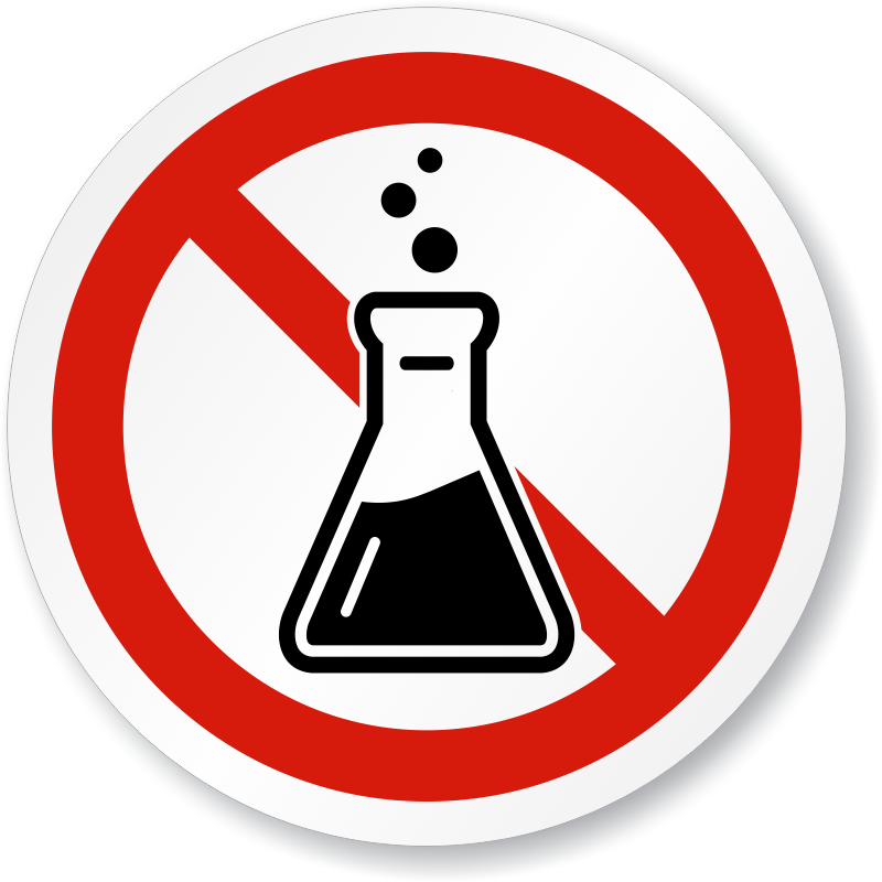 No Chemicals Lab Safety Symbol Iso Prohibition Sign Sku