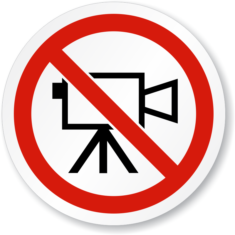 No Video Symbol Iso Prohibition Sign Sku Is 1116
